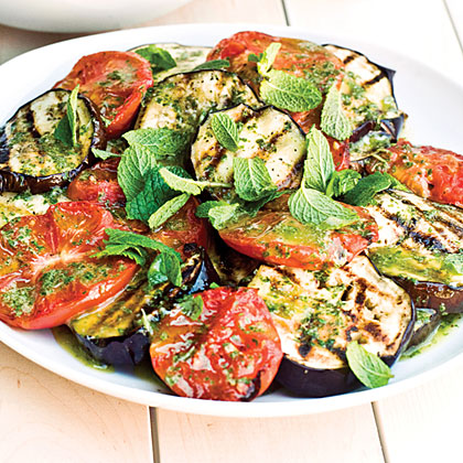 Grilled Eggplant and Tomato Salad Recipe | MyRecipes