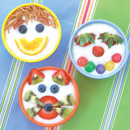 Turn ordinary bowls of pudding into cute characters by making funny faces out of cereals and fresh fruit. Your kids will be so interested in decorating, they won't even realize they're creating healthy snacks!Make these Puddin' Heads.Recipe:Puddin' Heads