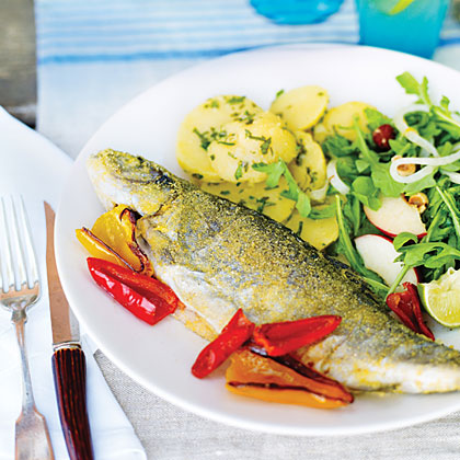 Pan-fried Trout with Smoked SalmonRecipe