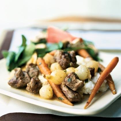 Mustard and Tarragon Braised Lamb