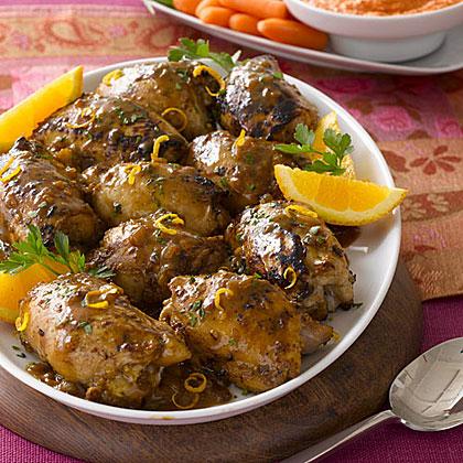 Chicken Thighs with Mustard-Citrus SauceRecipe