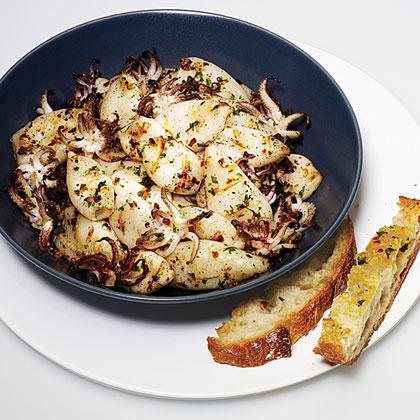 Marinated Grilled Calamari Recipe Myrecipes