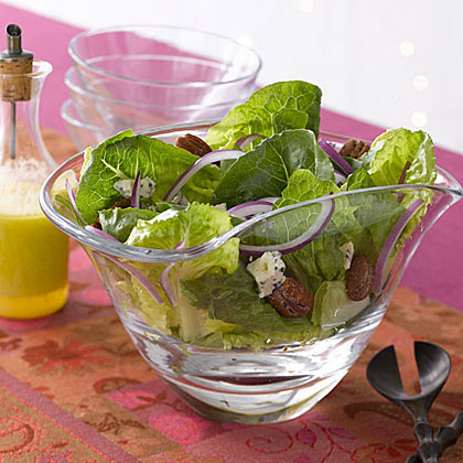 Romaine, Blue Cheese and Spiced-Pecan SaladRecipe