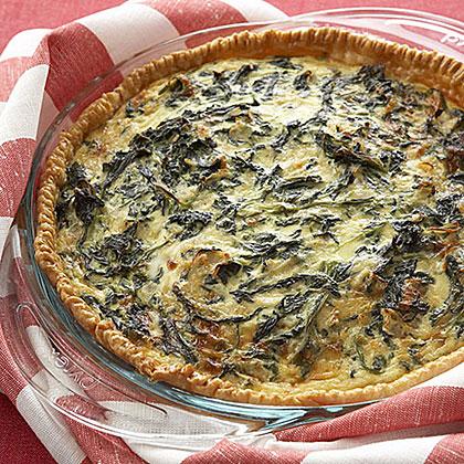 Spinach and Cheese QuicheRecipe