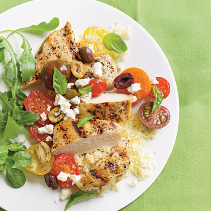 Chicken Breasts with Tomatoes and Olives Recipe