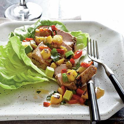 Pork, Pineapple, and Anaheim Chile Salad with Avocado