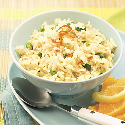 Citrus-Scented Rice With Fresh Basil Recipe
