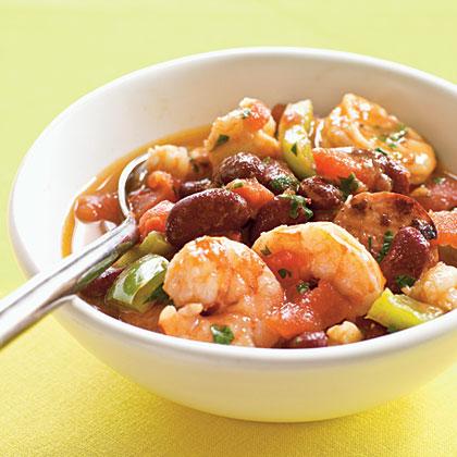 <p>Creole Shrimp and Sausage Stew</p>