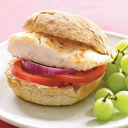 Halibut Sandwiches with Spicy Tartar Sauce