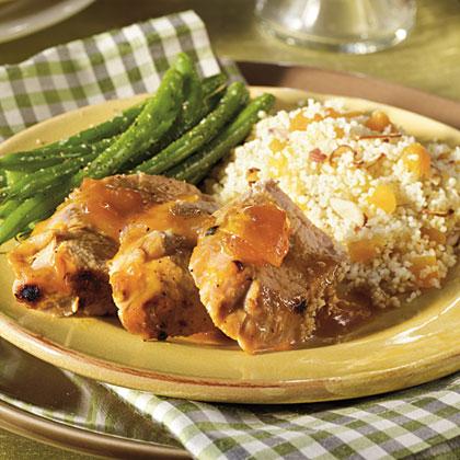 Apricot-Glazed Pork Tenderloin with Couscous
