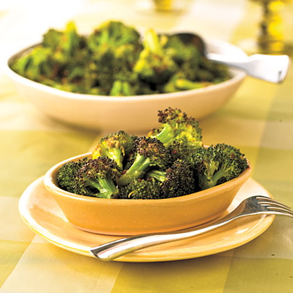 Roasted Broccoli with Orange-Chipotle Butter