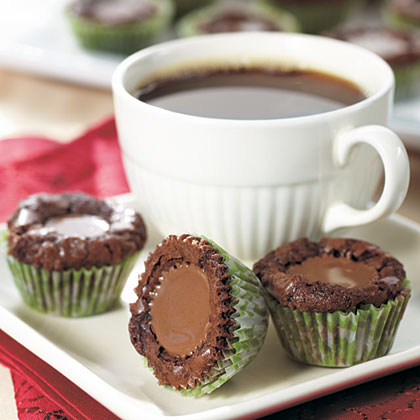 Try these mini cupcake-like brownies cooked with a peanut butter cup in the middle for a yummy treat.Brownie Buttons Recipe