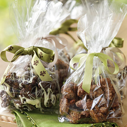 Chocolate-Drenched Chipotle-Roasted Nuts RecipeA drizzling of white chocolate makes these spicy chocolate nuts even more rich and decadent. Place them in small bowls at a party for a quick pick-up sweet or wrap in cellophane bags and tie with ribbon for a tasty gift or party favor.