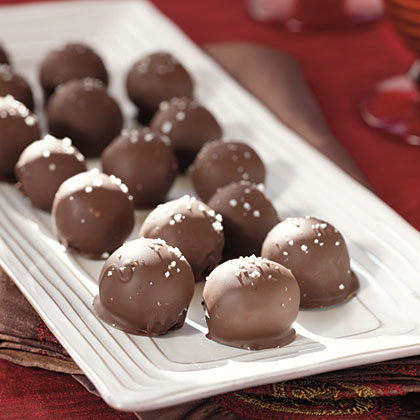 Dark Chocolate Truffles with Fleur de Sel Recipe | MyRecipes