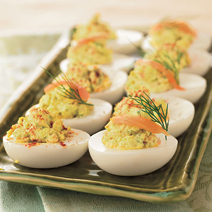 Deviled Eggs with Smoked Salmon and Cream Cheese Recipe