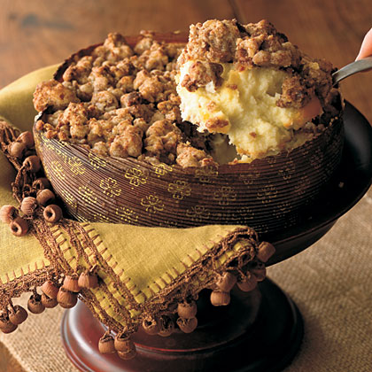 Ginger Streusel-Topped Cheesecake