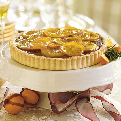 Candied Orange Truffle Tart