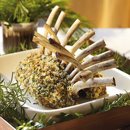 Rack of Lamb with Garlic-Herb Crust Recipe