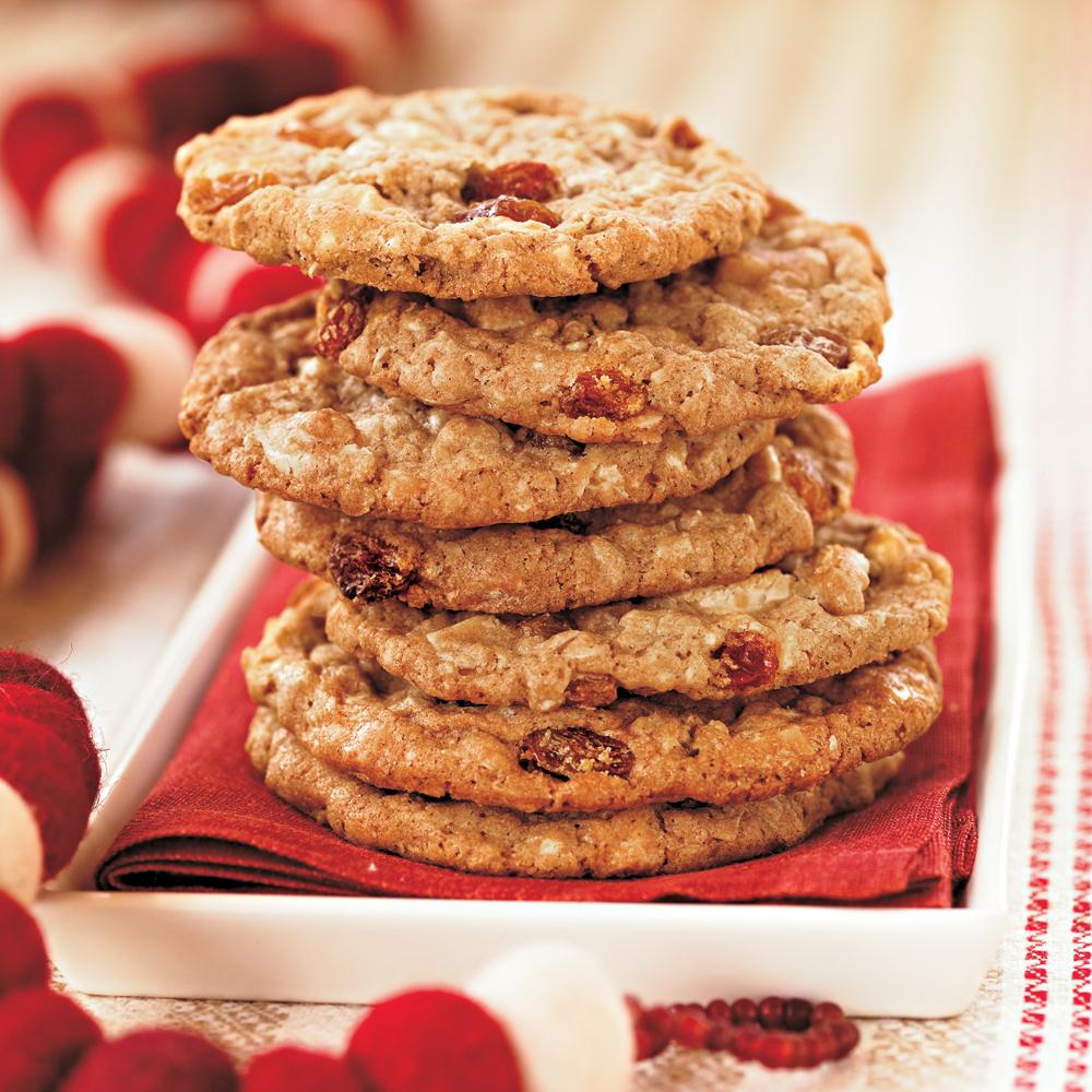 White Chocolate-Oatmeal-Raisin Cookies