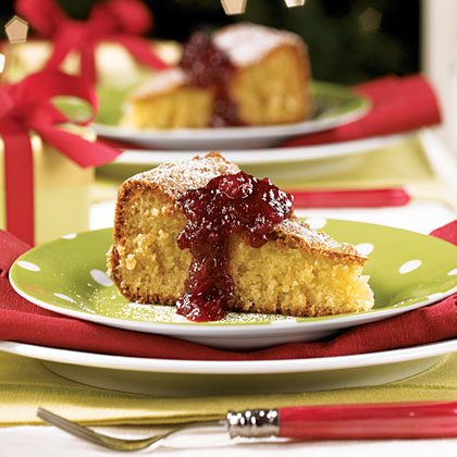 Almond Torte with Cranberry Jam