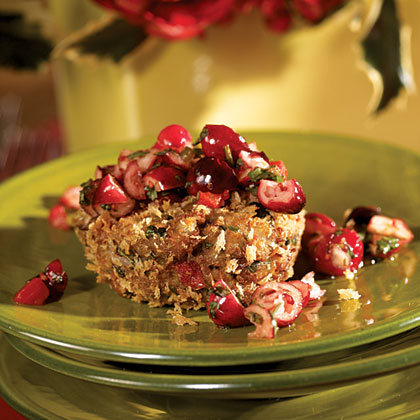 Black-eyed Pea Cakes with Cranberry-Red Pepper Salsa Recipe