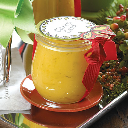 Citrus Curd RecipePackage tangy Citrus Curd in pretty jars tied with a ribbon. Offer gift recipients the suggestion to serve the curd over warm bread, fresh fruit, ice cream, or pound cake.