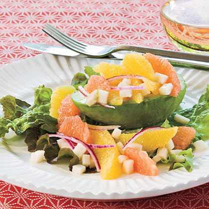 Citrus Salad in Avocado Cups