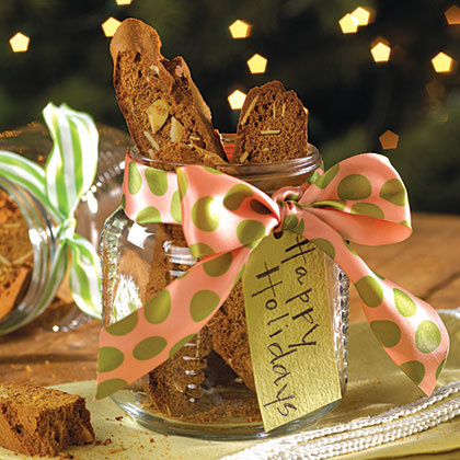 Gingerbread Biscotti RecipeThese cookies are the ideal holiday gift. If giving to a family, throw in some gingerbread people for the kids.