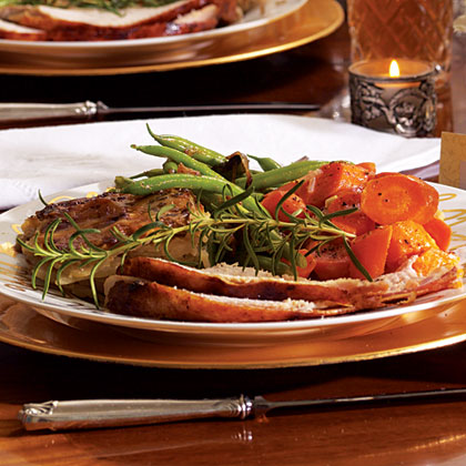 Green Beans with Roasted Shallots