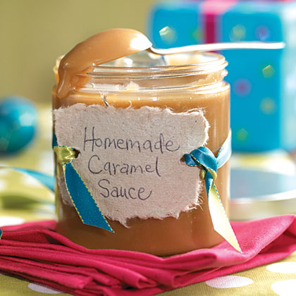 Homemade Caramel Sauce RecipeChristmas food gifts are especially welcome when they do double duty. This holiday sauce can be served as a creamy dip for fruit or as a topping for the impressive and delicious holiday dessert, Mile-High turtle Ice Cream Pie.