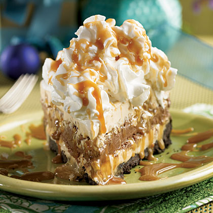 Mile-High Turtle Ice Cream Pie