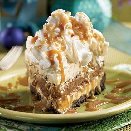 Mile-High Turtle Ice Cream Pie Recipe | MyRecipes