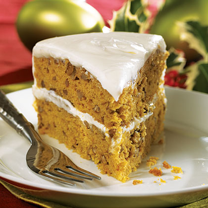 Pumpkin-Pecan Layer Cake Recipe
