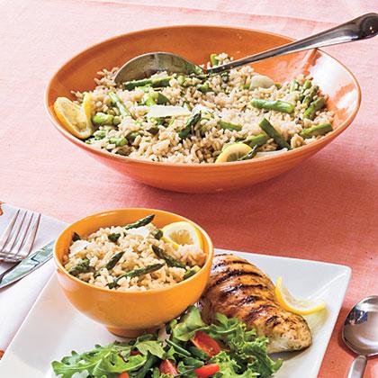 Savory Citrus-Asparagus Brown Rice