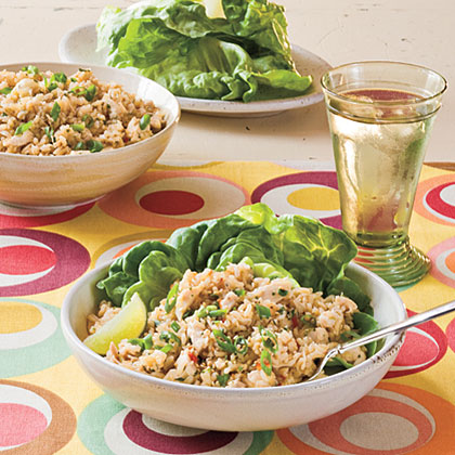 Sesame-Cilantro Chicken-and-Rice Salad Recipe