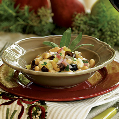 Warm Bean Salad with Olives Recipe