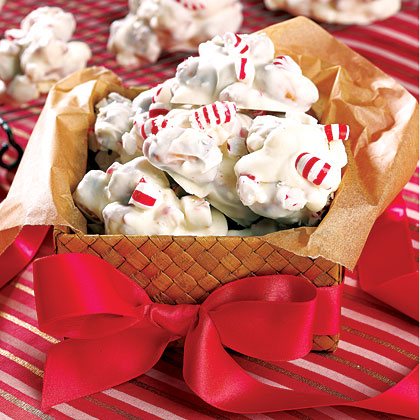 Peppermint-Coated Pretzels