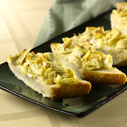 Easy Cheesy Artichoke Bread Recipe | MyRecipes
