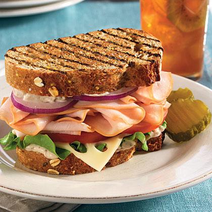 Hellmann's Mayonnaise Mediterranean Turkey Sandwiches Recipe