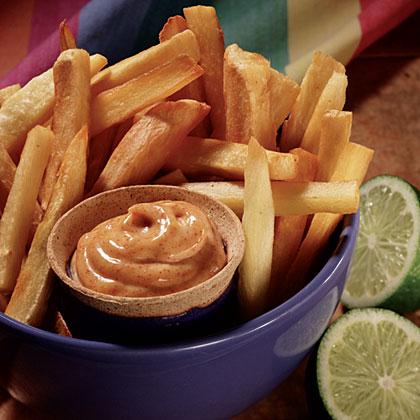 Hellmann's Mayonnaise Yuca Fries with Spiced Mayonnaise Recipe