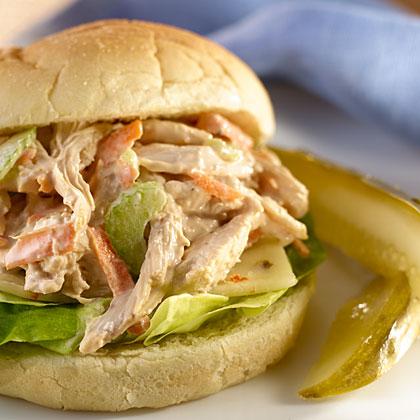 Hellmann's Mayonnaise Rotisserie Pulled Chicken Salad Sandwiches RecipeRecipe