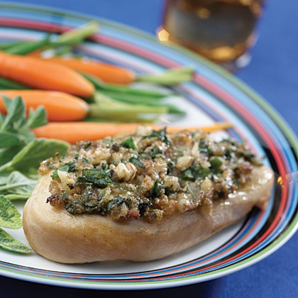Hellmann's Mayonnaise Spinach- and Walnut-Topped Chicken Recipe