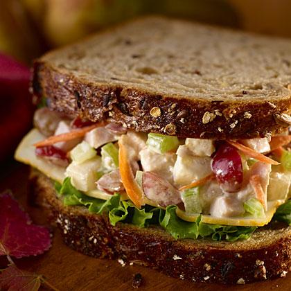 Hellmann's Mayonnaise Turkey 'n Pear Salad Sandwiches Recipe