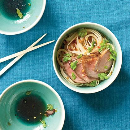 Char Siu over Sesame Noodles Recipe