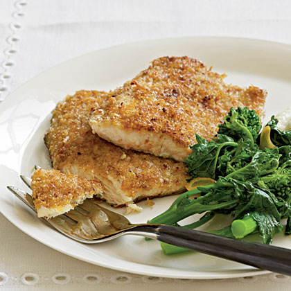 Pecan-Crusted Trout RecipeA pan-fried coating of ground pecans and panko yields crunchy texture and adds another level of flavor to the fish.