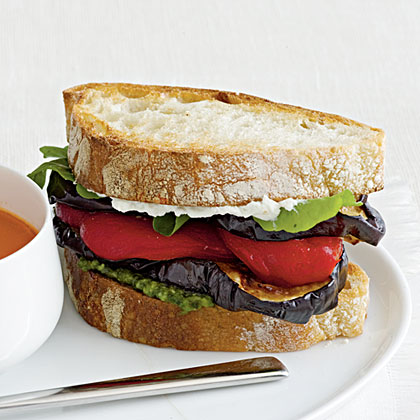 Eggplant and Goat Cheese Sandwiches Recipe MyRecipes