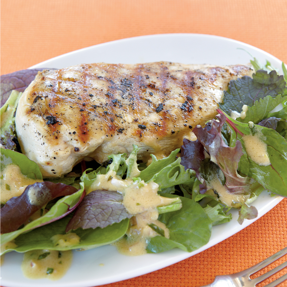 <p>Grilled Chicken with Mustard-Tarragon Sauce</p>