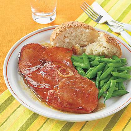 Maple-Glazed Ham Steak Recipe