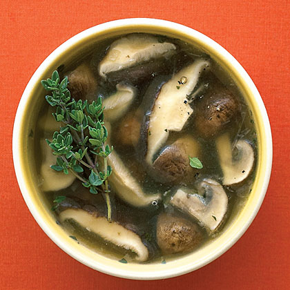 Mushrooms in Sherry Shallot Broth Recipe