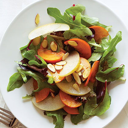 Asian Pear, Persimmon, and Almond Salad